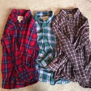Lot of 3 St. John's Bay Long Sleeved Flannels